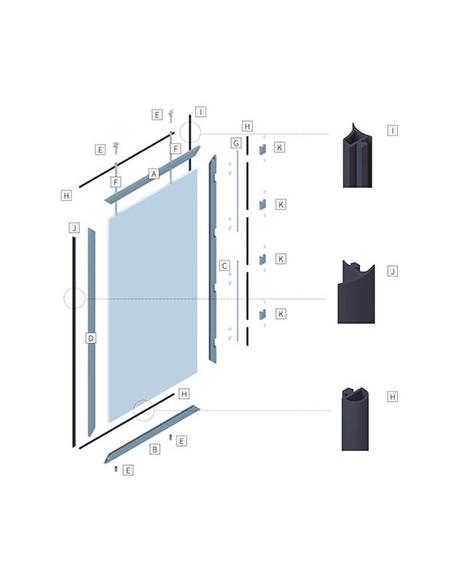 Componentes para puertas con cierres empotrados