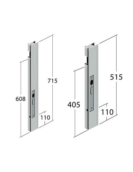 Cierres para laterales abatibles de aluminio