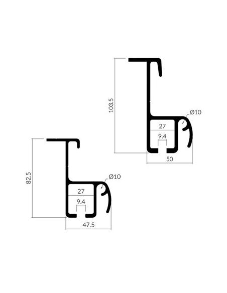 Perfiles para adaptar a lateral botellero