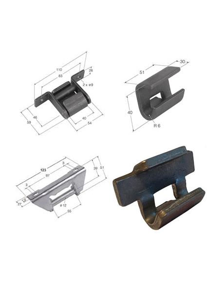 Bisagras de acero para laterales