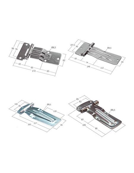 Bisagras de acero planas sin soporte