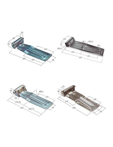 Bisagras de acero planas con soporte