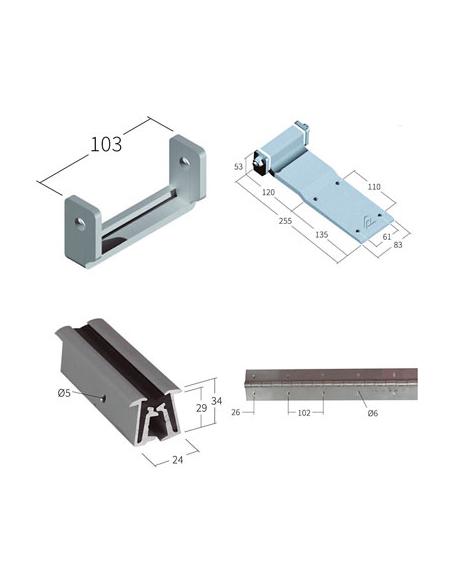 Bisagras de aluminio