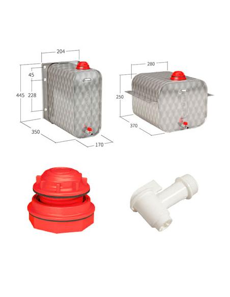 Depósitos de acero inox / accesorios